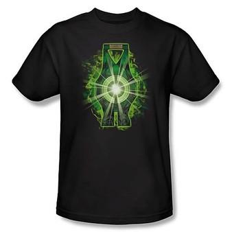Green Lantern Movie Lantern Battery Black T-Shirt