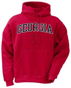 NIKE Georgia Bulldogs Red Classic Hoody Sweatshirt - UGA