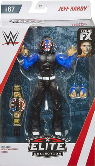 """Jeff Hardy """"Red, White and Blue Face"""" Variant WWE Wrestling Elite Collection Series 67 Action Figure"""