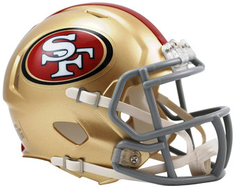 San Francisco 49ers Riddell NFL Mini Revo Speed Helmet