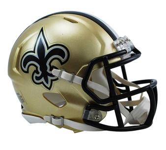 New Orleans Saints Riddell NFL Mini Revo Speed Helmet