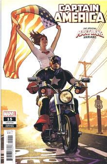 Marvel Comics Captain America #15 (2018) Mary Jane Variant Cover