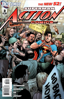 DC New 52 Superman Action Comics #3 (2011) First Print