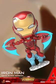 "Hot Toys Iron Man Mark L (Nano Blade Version) ""Avengers: Infinity War"" COSB498 Cosbaby (S) Bobble-Head"