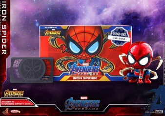 """Hot Toys Iron Spider (Log-On Exclusive) """"Avengers: Endgame"""" COSB595 Cosbaby (S) Bobble-Head"""