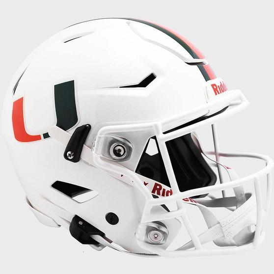 Miami Hurricanes Riddell NCAA Riddell Full Size Authentic Speed Flex Helmet