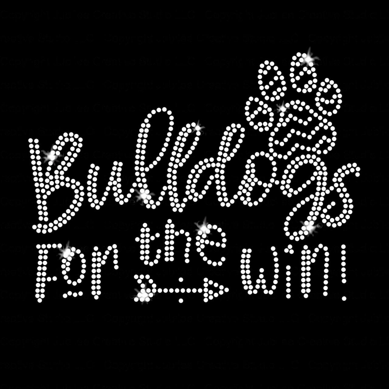 foto de Bulldogs for the Win Iron On Rhinestone T-shirt Transfer