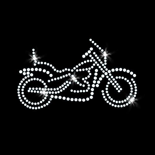 Motorcycle Iron On Rhinestone Transfer