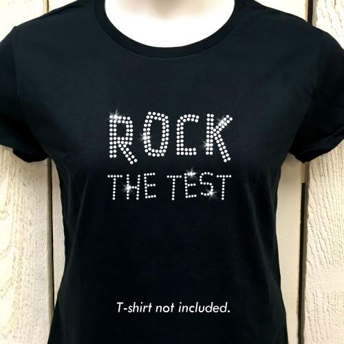 Rock the Test Iron On Rhinestone Transfer