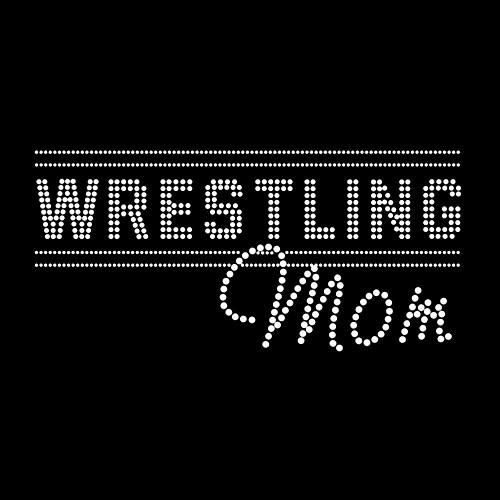Wrestling Mom Iron On Rhinestone Transfer