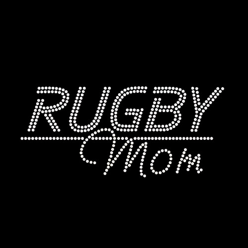 Rugby Mom Iron On Rhinestone Transfer