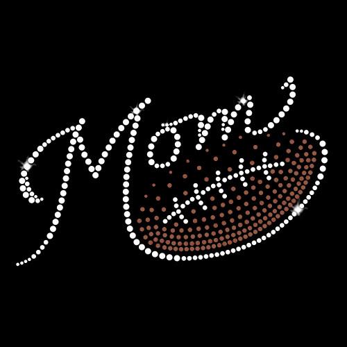 Football Mom Gradient Iron On Rhinestone Transfer