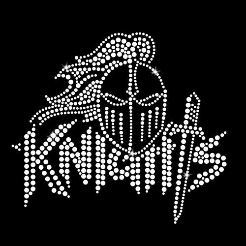Knights Logo Iron On Rhinestone Transfer