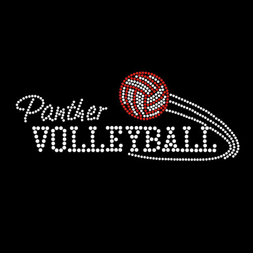 Custom Design Volleyball Rhinestone Iron On Transfer
