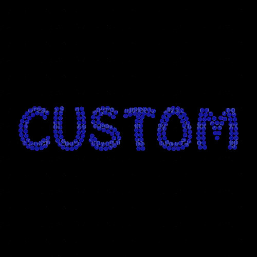 Custom Name or Word with Cobalt Blue Funky Style Letters