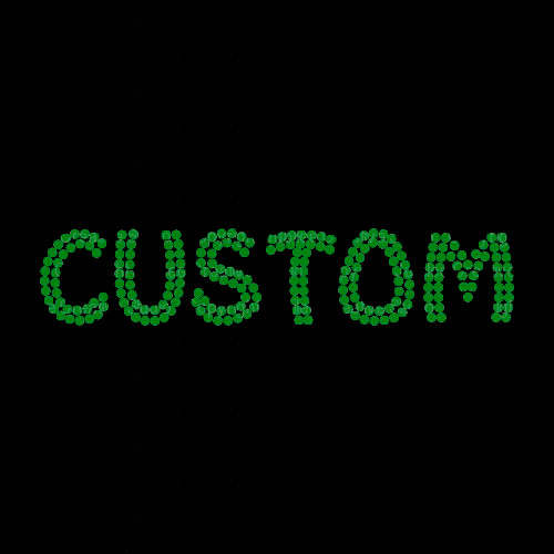 Custom Name or Word with Emerald Green Funky Style Letters