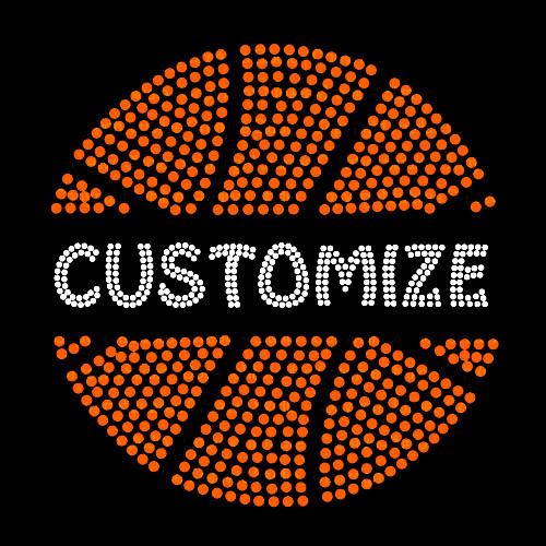 Split Basketball with Your Custom Name or Word