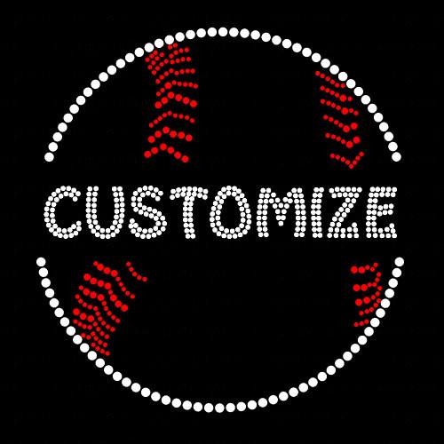 Split Baseball with Your Custom Name or Word