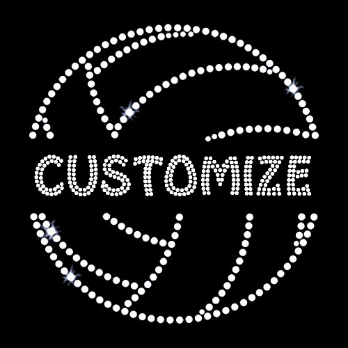 Split Volleyball with Your Custom Name or Word