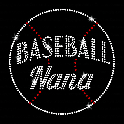 Baseball Nana Rhinestone Transfer