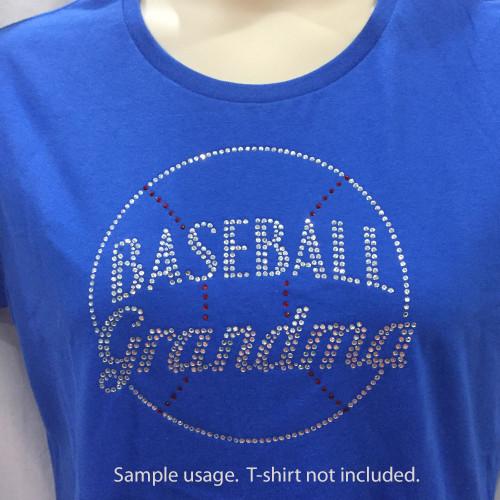 Baseball Grandma Rhinestone Transfer