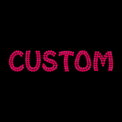 Custom Name or Word with Hot Pink Rhinestones Funky Style Letters
