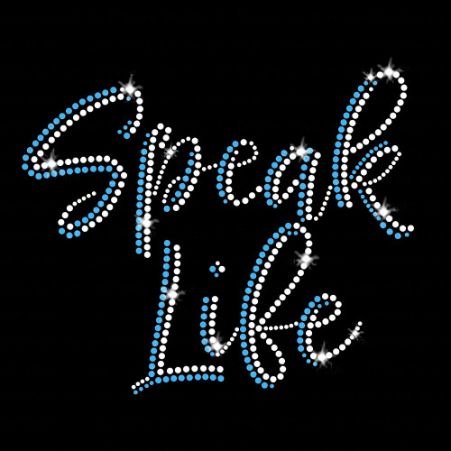 Speak Life Iron On Rhinestone Transfer