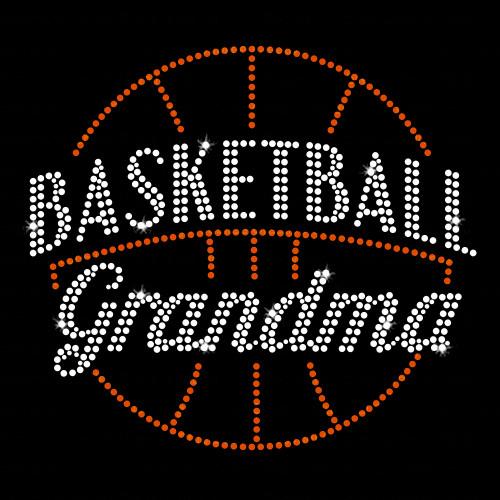 Basketball Grandma Rhinestone Transfer