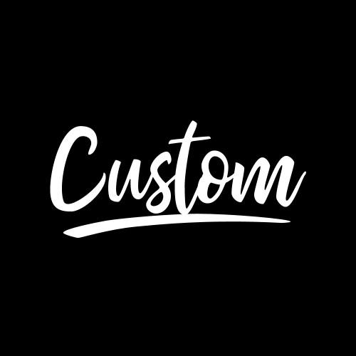 Custom Swash Script Rhinestone Iron On Transfer