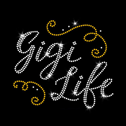 Gigi Life Iron On Rhinestone and Rhinestud Transfer