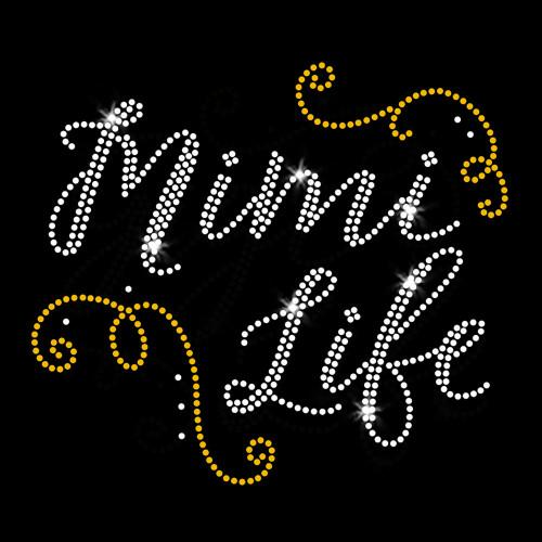 Mimi Life Iron On Rhinestone and Rhinestud Transfer