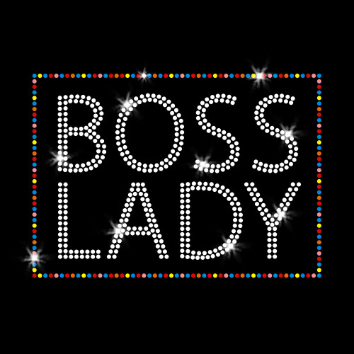 Boss Lady Iron On Rhinestone Transfer