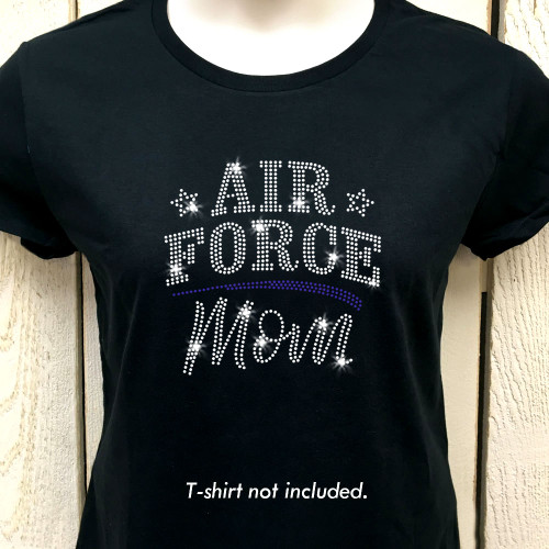 Air Force Mom Iron On Rhinestone Transfer