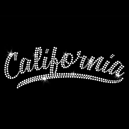 California Iron On Rhinestone Transfer