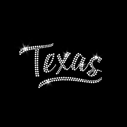 Texas Iron On Rhinestone Transfer