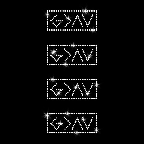 Set of 4 - XS God is Greater Than the Highs and Lows Iron On Rhinestone Transfer