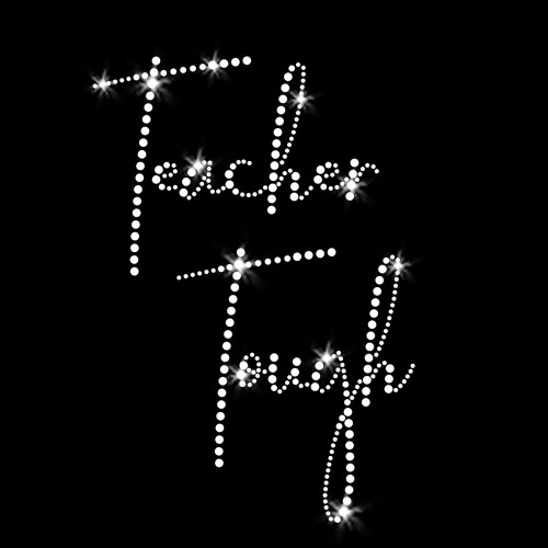 Teacher Tough Iron On Rhinestone Transfers