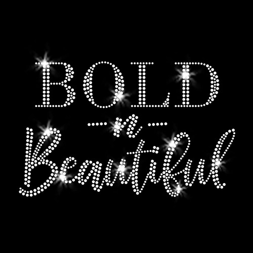 Bold -n- Beautiful Iron On Rhinestone Transfers