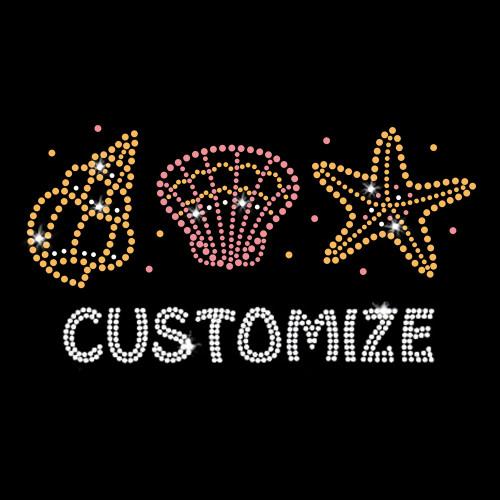 Custom Name or Word with Seashells Beach Theme