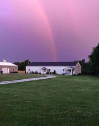 Rainbow over our Jubilee Creative Studio buildings