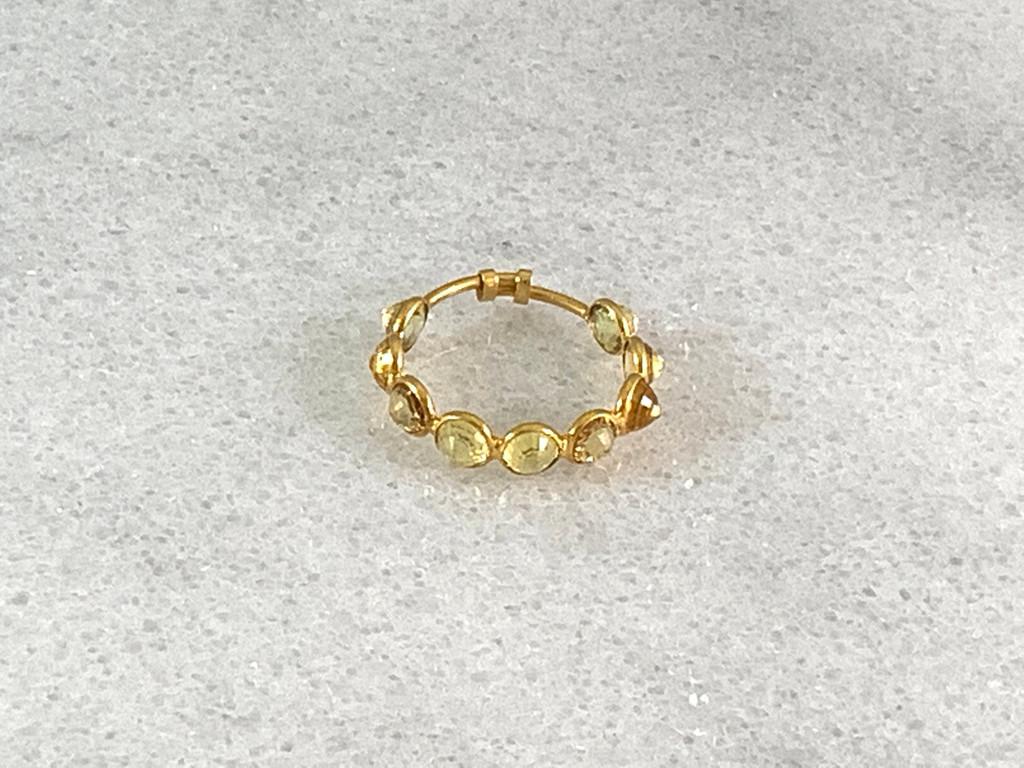 18K Gold Yellow Sapphire Ring
