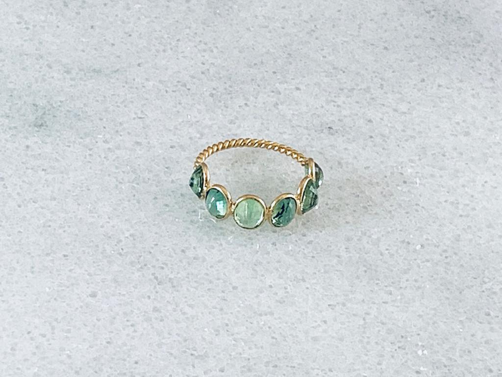 18K Tsavonite Ring