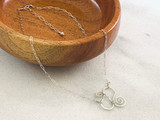 Sterling Silver Hammered and Sewn Plain Necklace
