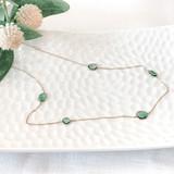 18K Gold Tsavonite Necklace