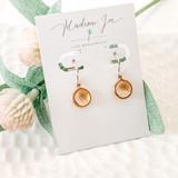 18K Gold Citrine Earrings