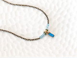 Strung Pyrite and Chalcedony Necklace