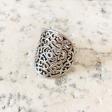 Sterling Silver Filigree Ring Size 8