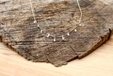 18K White Diamond  Unshaped Drop Chain