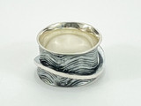 Sterling Silver Textured Floating Band Ring