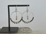 HILL TRIBE • AKHA CLASSIC BEAD AND TWIST HOOP EARRINGS IN SMALL